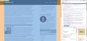 Auffinden der richitigen CSS Angaben mit den Entwicklertools