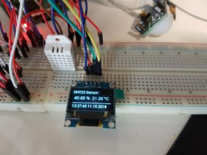 OLED Display mit DHT22 Sensor