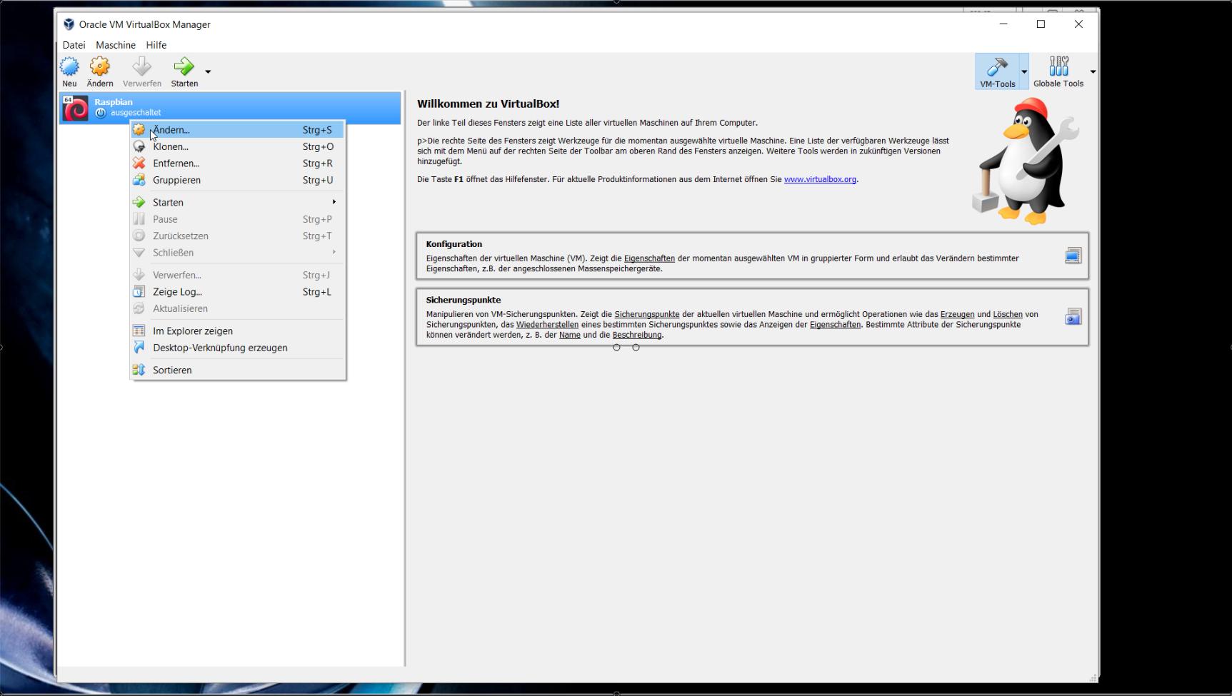 Wie man Raspberry Pi Desktop unter VirtualBox einrichtet - webnist de